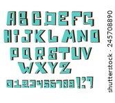 vector alphabet letters.... | Shutterstock .eps vector #245708890