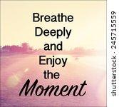 inspirational typographic quote ... | Shutterstock . vector #245715559