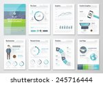 flat design brochures and... | Shutterstock .eps vector #245716444