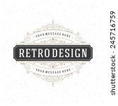 retro vintage insignia ... | Shutterstock .eps vector #245716759