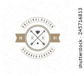 retro vintage insignia ... | Shutterstock .eps vector #245716813