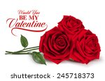 Stock vector valentines day sweet red roses mesh vector illustration 245718373