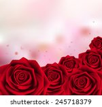 Stock vector valentines day sweet red roses mesh vector illustration 245718379