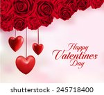 valentines day sweet red roses. ... | Shutterstock .eps vector #245718400