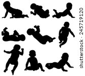 set of  baby silhouettes...
