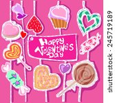 happy valentine's day candies | Shutterstock .eps vector #245719189