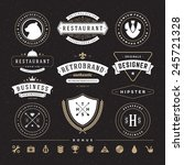 retro vintage insignias or... | Shutterstock .eps vector #245721328