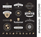 retro vintage insignias or... | Shutterstock .eps vector #245721340