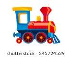 cartoon toy train vector... | Shutterstock .eps vector #245724529