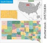 map of south dakota state... | Shutterstock . vector #245731834