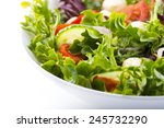 Closeup Of Vegetable Salad On...