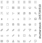 vector document editing icon set | Shutterstock .eps vector #245734510