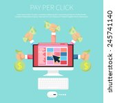 pay per click internet... | Shutterstock .eps vector #245741140