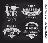 happy valentine's day vector... | Shutterstock .eps vector #245742490