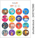 management digital marketing... | Shutterstock .eps vector #245742580