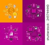set of sticker design. high...   Shutterstock .eps vector #245744440