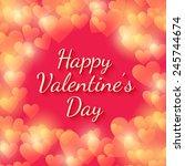 happy valentines day vector... | Shutterstock .eps vector #245744674