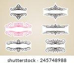 calligraphic headline frame... | Shutterstock .eps vector #245748988