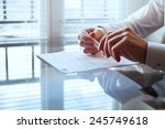 business man before signing... | Shutterstock . vector #245749618