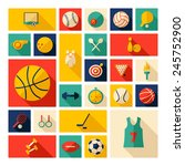 flat concept  design with... | Shutterstock .eps vector #245752900