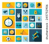 flat concept  design with... | Shutterstock .eps vector #245752906