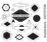 set of vintage hipsters borders ... | Shutterstock .eps vector #245757358