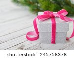 gift box with ribbon and... | Shutterstock . vector #245758378