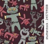 strange frightening toys lie... | Shutterstock .eps vector #245759008