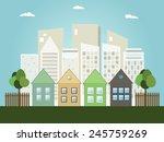 modern eco city concept | Shutterstock .eps vector #245759269