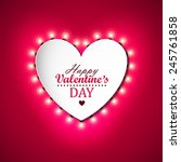 valentines day background with... | Shutterstock .eps vector #245761858