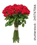 colorful flower bouquet from... | Shutterstock . vector #245767066