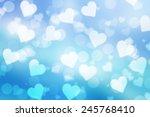 blue valentine sparkle bokeh... | Shutterstock . vector #245768410
