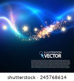 shining wave bokeh   light... | Shutterstock .eps vector #245768614