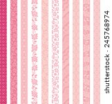 set of decorative banners. lace ... | Shutterstock .eps vector #245768974