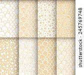 geometric seamless patterns set.... | Shutterstock .eps vector #245769748