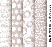 set of 4 neutral doodle... | Shutterstock .eps vector #245769823