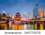 Guiyang  China Skyline At...