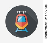 transportation train flat icon... | Shutterstock .eps vector #245779738