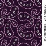 purple paisley background. | Shutterstock .eps vector #245780110