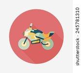 transportation motorcycle flat... | Shutterstock .eps vector #245781310