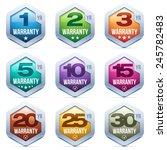 warranty seal metal badge | Shutterstock .eps vector #245782483
