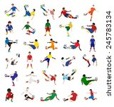 collection of soccer players ... | Shutterstock .eps vector #245783134