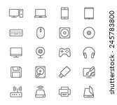 computer thin icons | Shutterstock .eps vector #245783800