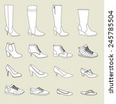 shoes  boots  pumps  high heels ... | Shutterstock .eps vector #245785504