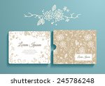 floral set of romantic... | Shutterstock .eps vector #245786248