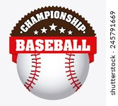 baseball icon design  vector...   Shutterstock .eps vector #245791669