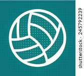 volleyball ball design  vector... | Shutterstock .eps vector #245792239