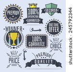 set of cartoon promo elements.... | Shutterstock .eps vector #245792344
