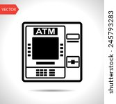 icon of atm | Shutterstock .eps vector #245793283