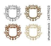 set of heraldic shields | Shutterstock . vector #24579523